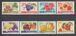 Romania 1963 - Fruits, Mi-Nr. 2176/83, MNH** - Ungebraucht