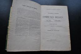 TARLIER - WAUTERS Canton De JODOIGNE 1872 A. DECQ Huppaie Glimes Lathuy Tourinnes Bauvechain Geest Noduwez Ramillies Orp - Belgique
