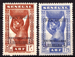 PA Militaire 6 Et 7 - Timbres Du Sénégal Surchargés  - FAUX - Neufs Sans Gomme - Militar