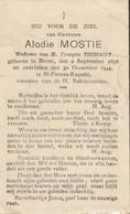 Bever,  1944, Alodie Mostie, Toussaint, - Andachtsbilder