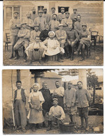 Lot 2 Cpa Photos 401 ème Régiment D'Infanterie En Instruction à Méximieux / Juin 1915 (Ain). - Guerra 1914-18