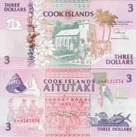 Cook Islands ND (1992) - 3 Dollars - Pick 7 UNC - Cook Islands