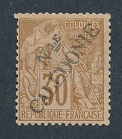 DX-602: Nelle CALEDONIE: Lot Avec N°30* Surcharge Type I  (aminci) - Unused Stamps