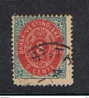 ANTILLE  DANESI:  1873-79  CORONA  -  5 C. BLU  E  ROSSO  US. -  YV/TELL. 6 - Danemark (Antilles)