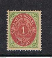 ANTILLE  DANESI:  1873/79  CORONA  -  5 C. VERDE  E  LILLA  ROSA  L. -  YV/TELL. 5 - Danemark (Antilles)