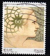 ITALIA - 2017 - 60° ANNIVERSARIO DEI TRATTATI DI ROMA - USATO - 2011-...: Afgestempeld