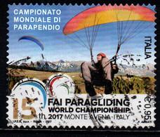 ITALIA - 2017 - CAMPIONATO MONDIALE DI PARAPENDIO - MONTE AVENA - USATO - 2011-...: Afgestempeld
