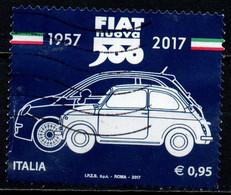 ITALIA - 2017 - FIAT 500 - CINQUANTENARIO - USATO - 2011-...: Afgestempeld