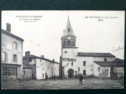 43, Siaugues Saint Romain ,la Place De L'église En 1911 ..scan Recto  Verso - Otros Municipios