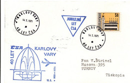 Karlovy Vary 1971 - 40 Let CSA - Jubilejni - Jubilé Compagnie Aérienne - Cartas