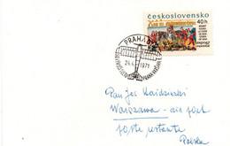 Praha Varsava 1971 - 50 Aniversary Vol Flight Erstflug - Prague Varsovie Warszawa - Cartas