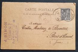 Frankreich 1892, Postkarte 10C PARIS Gelaufen Bois-d'Amont - Non Classificati