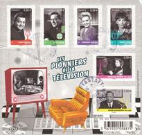 Feuillet Les Pionniers De La Télé Oblitéré De 2013 (petite Coupure à Droite) - Oblitérés