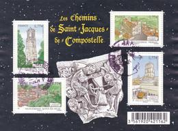 Feuillet Saint Jacques De Compostelle Oblitéré De 2012 - Oblitérés