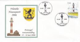 Enveloppe 3529 Filatelie Nieuwpoort Phare - Cartas