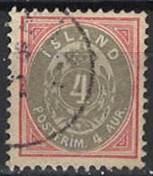 Iceland Island 1900. Mi.Nr. 20, Used O - Used Stamps
