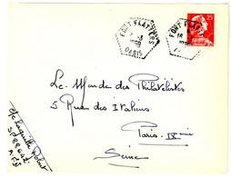 ALGERIE ENV 1959 FORT FLATTERS OASIS AGENCE POSTALE LETTRE AVION - Brieven En Documenten