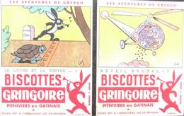 Année 60 4 Buvardsles Aventures De Gringo (petite Tâches De Rousseurs) BISCOTTES GRINGOIRE - Advertising