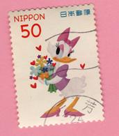2012 GIAPPONE Fiori Fumetti Disney Paperina Daisy Duck - 50 Y Usato - Gebruikt