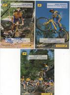 3 CARTES TEAM VTT LA POSTE 1996 - Cycling
