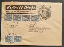 Österreich - Bedarfsbrief Wien Massenfrankatur 50Gr Bauten Automatenmarken - 1971-80 Cartas