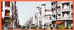 VARA055 ♥️ Rare Carte Panoramique 22x9 ORAN Algérie Boulevard JOFFRE Et Le GRAND TEMPLE 1950s REAL-PHOTO BROMACOLOR 1359 - Oran