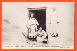 VARA072 ♥️ Rare TAZA Maroc Oriental Si ALI Kalifat Du Cheik LARBI Et Ses FEMES 1900s Photo GEISER 119 Alger - Andere