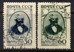RUSSIE - 909/910°  - KARL MARX - Used Stamps
