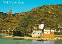2 AK Germany / Rheinland-Pfalz * Die Burg Gutenfels Und Die Burg Pfalz Im Rhein - Seit 2002 UNESCO Welterbe * - Kaub