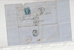 Lettre Avec Classiques De France: Napoléon N°14 I, Figeac/Lot , 1860 - 1853-1860 Napoleon III
