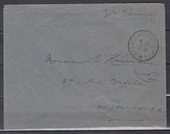Brief Van Tresor Et Postes Naar Paris - Cartas