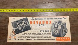 Publicité Appareil Photo Gevabox Gevaert - Collections