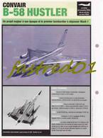 Fiche Technique: CONVAIR B-58 HUSTELER.  (Etats-Unis. 1956) - Collections