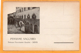 Siena Italy Old Postcard - Siena