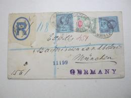 1893 , Registered Letter To Germany - Briefe U. Dokumente