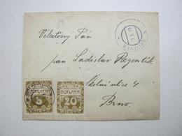 1919 , Brief Aus SVITAVKA Nach Brünn Mit Nachporto - Briefe U. Dokumente