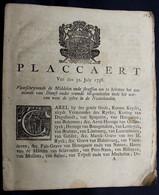 OUD DOKUMENT  - PLACCAERT VAN DEN 31 JULY 1738 - VOORSCHRYVENDE DE MIDDELEN EN STRAFFEN OM TE BELETTEN HET AENNEMEN - Documenti