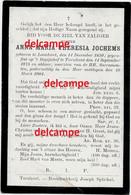 Doodsprentje Anna M T Jochems Loenhout 1850 Begijntje Begijnhof Turnhout En Aldaar Overleden 1904 - Devotieprenten