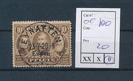 "BELGIUM WW1 OC 100  ""EUPEN"" NICE CANCELLATION OF EYNATEN - [OC55/105] Eupen/Malmedy"