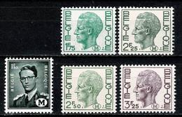 België/Belgique 1967/75 - M 1/5** MNH / Neuf Sans Charnière / Nieuw Zonder Scharnier - Militares (Sellos M)