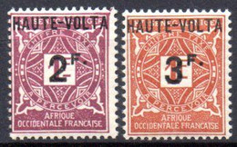Haute Volta : Yvert N°  Taxe 9/10**; MNH - Neufs