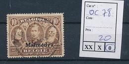 BELGIUM WW1 COB OC 78 USED - [OC55/105] Eupen/Malmedy