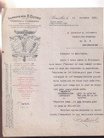 BRUXELLES 1930   IMPRIMERIE E.GUYOT   12 RUE DE PACHERO - Drukkerij & Papieren