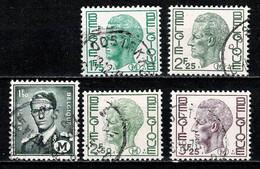 Belg. 1967/75 OBP/COB M 1/5 Gest./obl. - Militares (Sellos M)