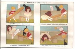 Chromo - La Bascule Et Les Deux Chats - Illustrateur RAY - Pub Paris Lyon Marseille - Other