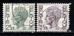 Belg. 1971/75 OBP/COB M 3, 5 Gest./obl. - Militares (Sellos M)