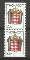 Timbre Monaco En Neuf **  N 1613a En Paire Verticale - Unused Stamps