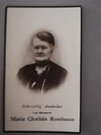 Bidprentje Rombauts Marie Echtg Van Den Broeck ° Itegem 1865 Overleden Heist Op Den Berg 1932 - Todesanzeige
