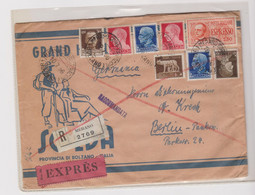 ITALY MERANO 1936 Registered Priority Cover To Germany - Storia Postale