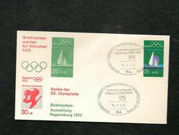 R1) Busta Olimpiadi Beleg Monaco 72 15.8.972 Sapporo ZU Olympia München '72 SST REGENSBURG 1 Briefmarken Werben Fur - Verano 1972: Munich